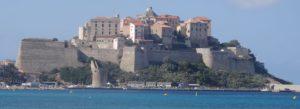 Villa Alba Dolce Calvi citadelle vue de la plage