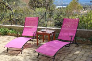 Villa Alba Dolce Appart terrasse chaises longues